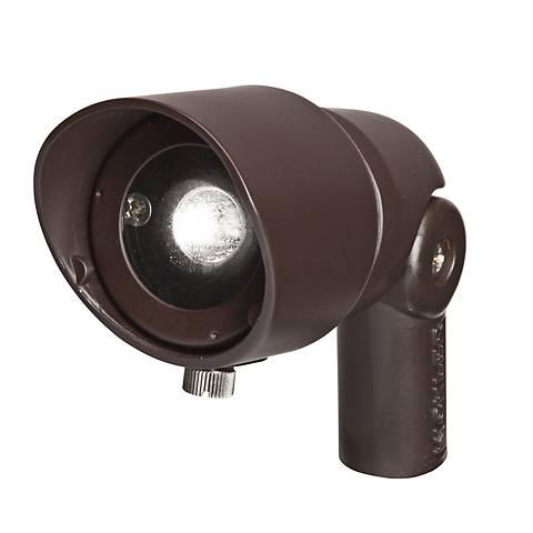 Radiax 3000K 35-Degree 4-Watt LED Rich Bronze Flood Light