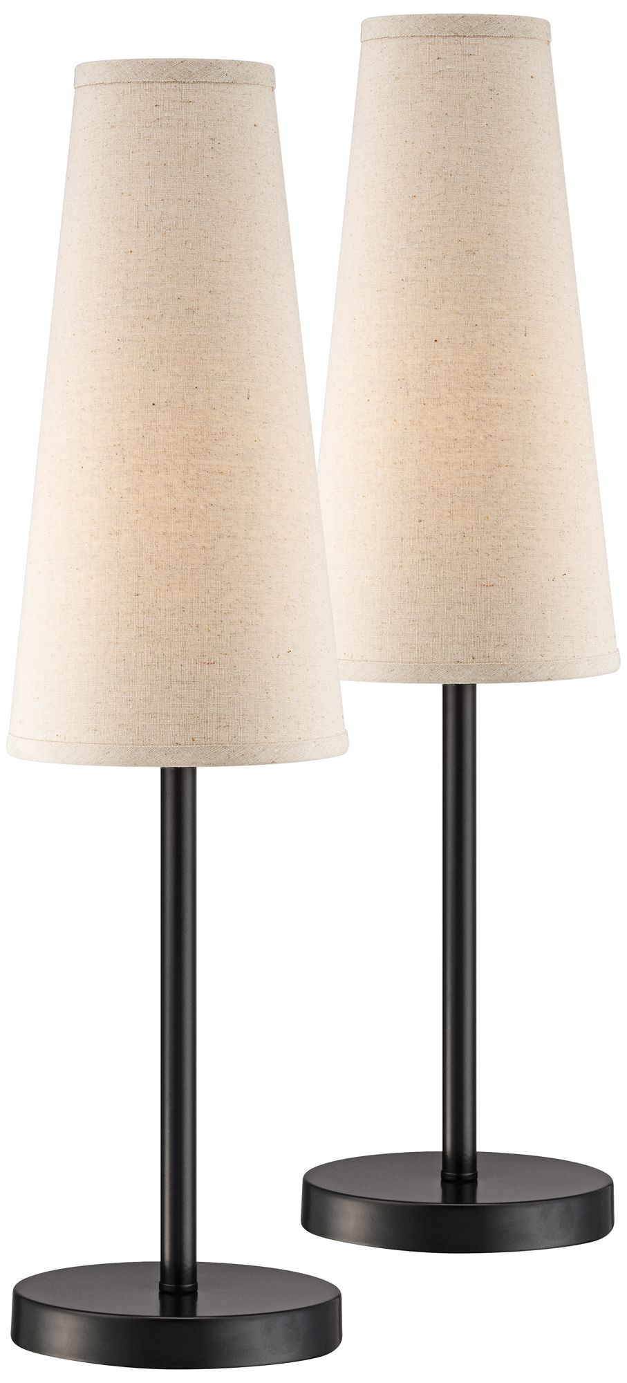 Snippet Espresso Bronze Accent Table Lamp Set Of 2