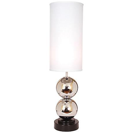 van teal run around white shade chrome table lamp 2h025. Black Bedroom Furniture Sets. Home Design Ideas
