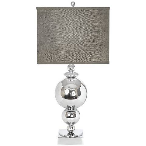 "Van Teal New World 29"" High Chrome Serpentine Table Lamp"