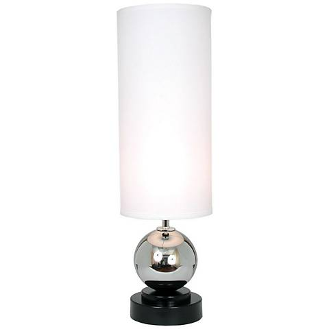 "Van Teal Run Away Chrome 32"" High WhiteTable Lamp"