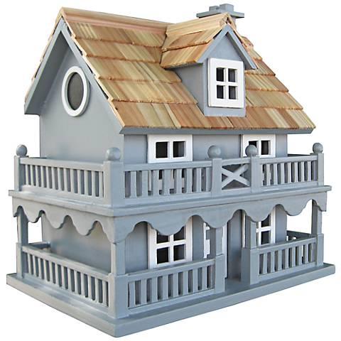 Novelty Blue Cottage Birdhouse