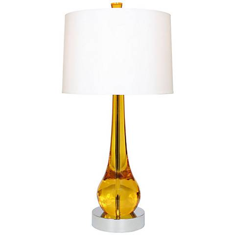 "Van Teal Magic 33"" High Gold Acrylic Table Lamp"