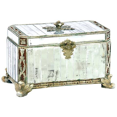 Paneled Mirrored Silver Box