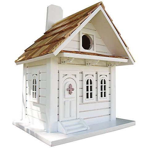 Shotgun White Cottage Birdhouse
