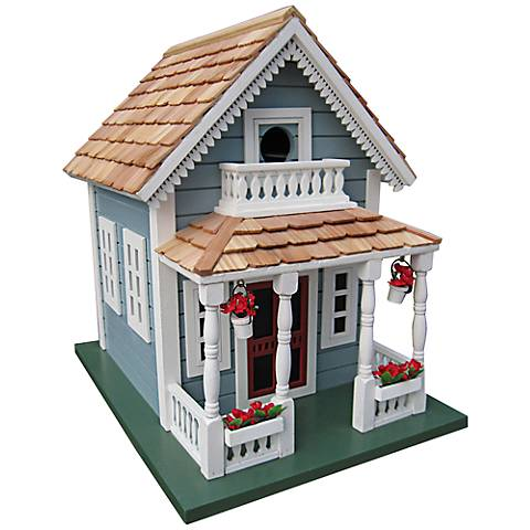 Newburyport Blue Cottage Birdhouse