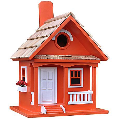 Tangerine Cottage Birdhouse