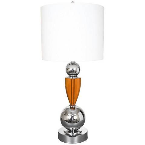 Van Teal  Every Morning Honey And Chrome Table Lamp