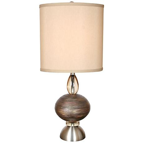 van teal oneal copper and brushed nickel modern table lamp. Black Bedroom Furniture Sets. Home Design Ideas