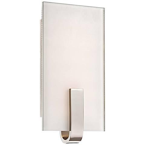 "George Kovacs 12"" High Polished Nickel LED Wall Sconce"