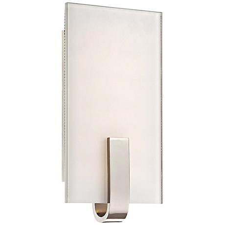 kovacs 12 high polished nickel led wall sconce 2h494 lamps plus. Black Bedroom Furniture Sets. Home Design Ideas