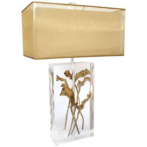Van Teal Clear And Dried Natraj Modern Acrylic Table Lamp