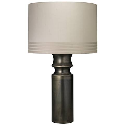 "Jamie Young Tower 31.5"" High Gun Metal Table Lamp"