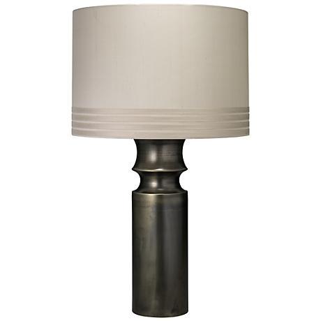"Jamie Young Tower 31.5"" High Gun Metal Table Lamp"