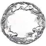 Arthur Court Horse Round Serving Tray