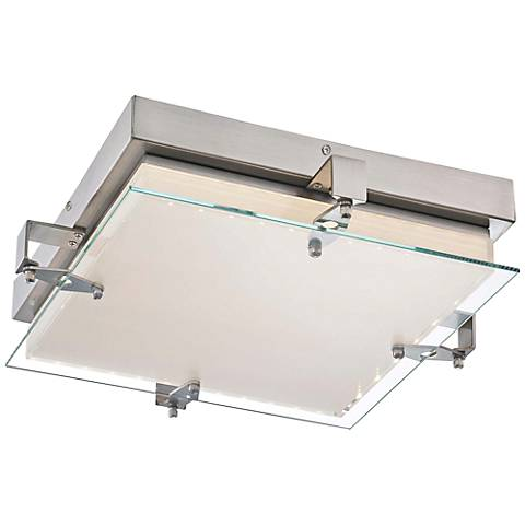 "George Kovacs Cufflink 14 3/4"" Wide Glass LED Ceiling Light"