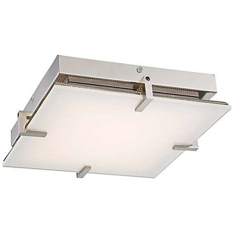 """George Kovacs Hooked 14"""" Wide LED Glass Ceiling Light"""
