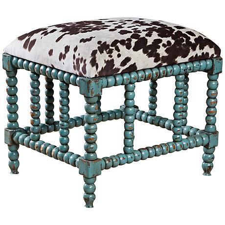Uttermost Chahna Aqua Blue Small Bench