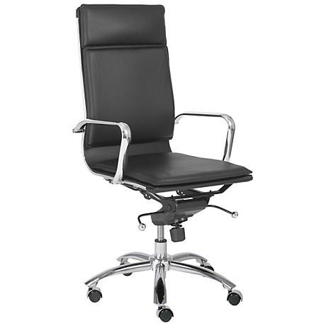 Merritt High-Back Black and Chrome Office Chair
