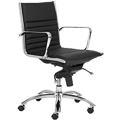 Dirk Low-Back Chrome and Black Office Chair