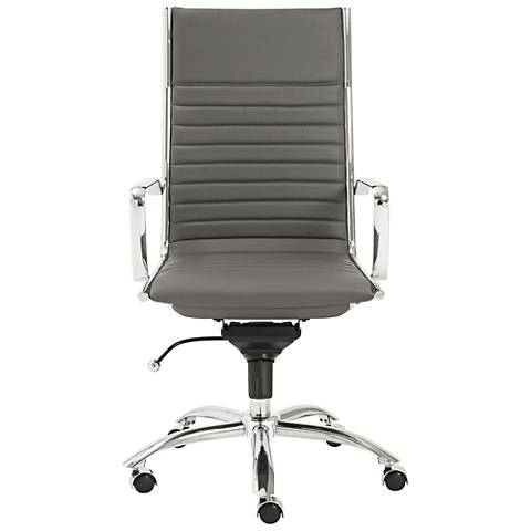 Dirk High-Back Chrome and Gray Office Chair