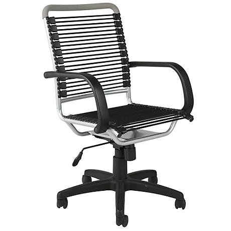 Bungie High-Back Black and Aluminum Office Chair