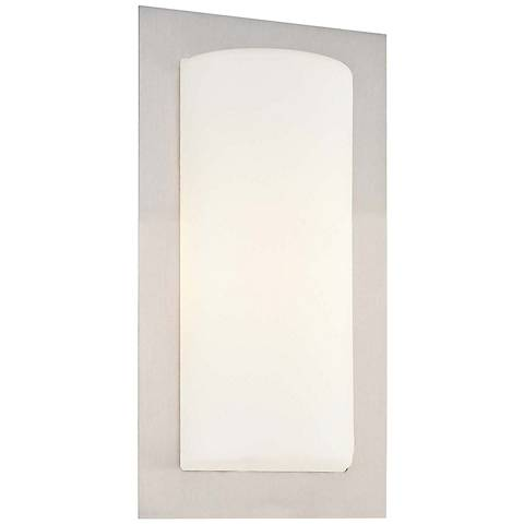 "George Kovacs 12"" High LED Brushed Aluminum Wall Sconce"