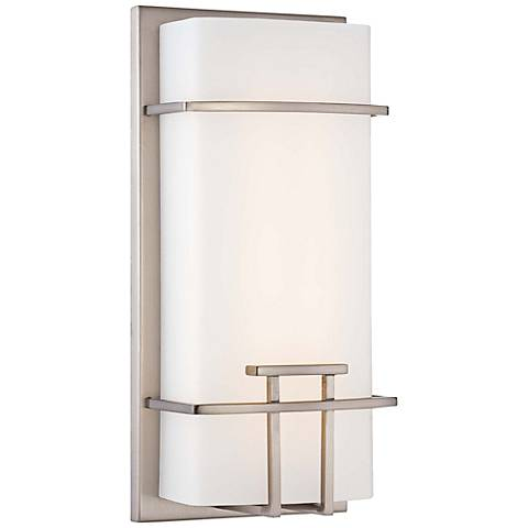 "George Kovacs Modern Mission 12"" High Nickel LED Wall Sconce"