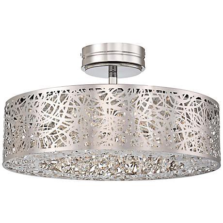 """George Kovacs 18 1/4"""" Wide Chrome LED Ceiling Light"""
