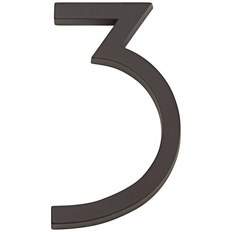 Modern Avalon Oil-Rubbed Bronze House Number 3
