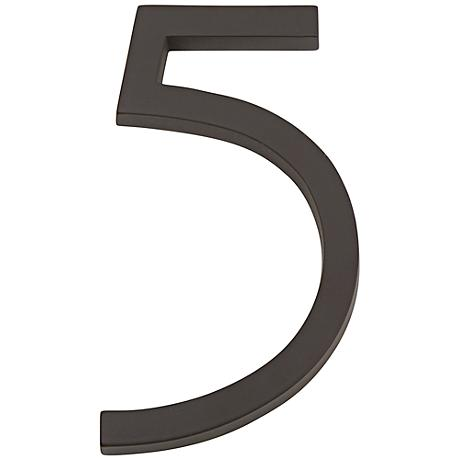 Modern Avalon Oil-Rubbed Bronze House Number 5