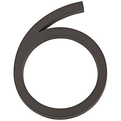 Modern Avalon Oil-Rubbed Bronze House Number 6