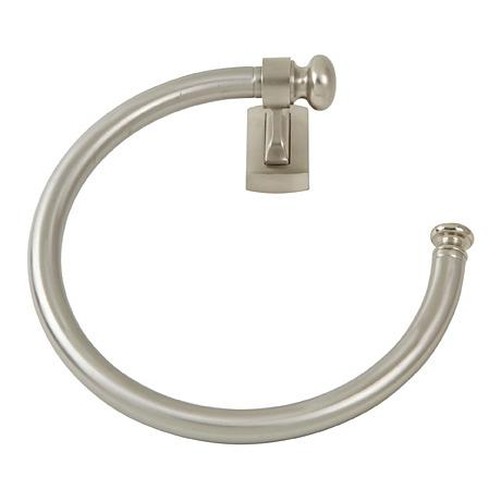 """Legacy Collection 8"""" Wide Brushed Nickel Towel Ring"""