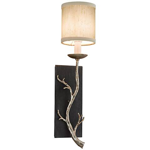 "Adirondack Collection 21 3/4"" High Silver Leaf Sconce"