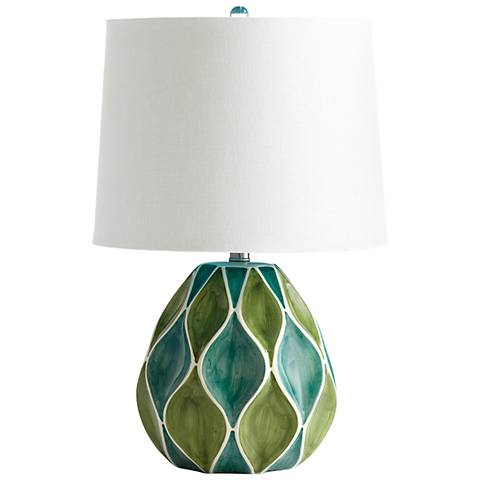 Glenwick Green and Blue Ceramic Table Lamp