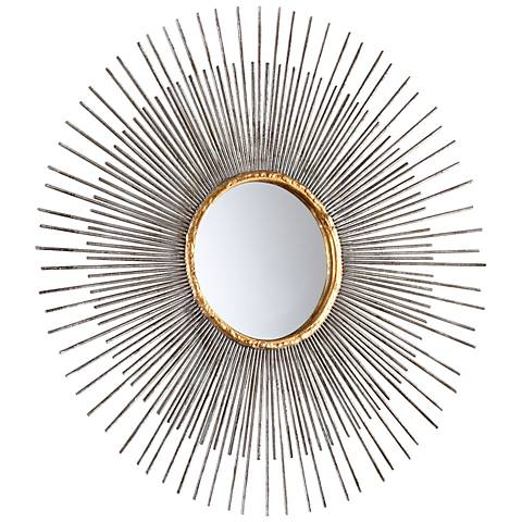 """Small Pixley 18"""" Round Antique Silver Wall Mirror"""