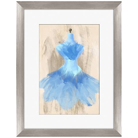 "Blue Couture Fashion 18"" Framed Wall Art"