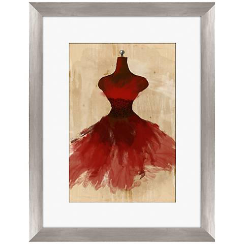 """Red Couture Fashion 18"""" Framed Wall Art"""