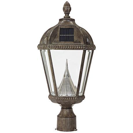 Royal Solar 6000K Weathered Bronze LED Post Light