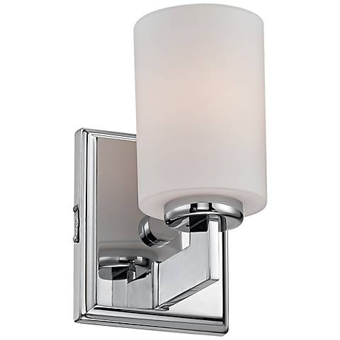 "Quoizel Taylor 8 1/2"" High Polished Chrome Sconce"