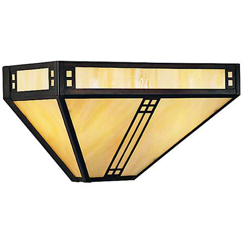 """Prairie 6 3/4""""H Iridescent Gold Glass Outdoor Wall Light"""