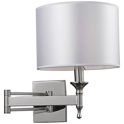 Pembroke Polished Nickel Swing Arm Wall Lamp