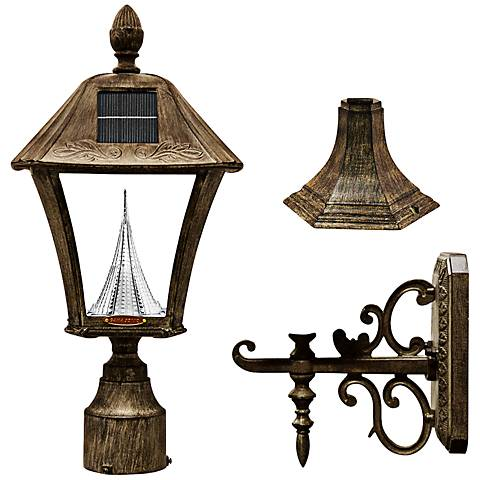 Baytown Solar 6000K 2-Watt LED Bronze Post Light