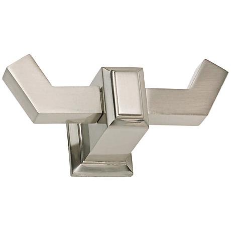 """Sutton Place 1 1/2"""" Wide Brushed Nickel Bath Hook"""