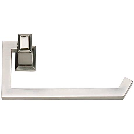 """Sutton Place 6 3/4""""W Brushed Nickel Toilet Paper Holder"""
