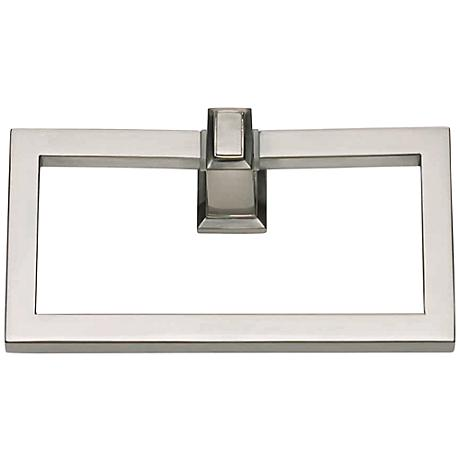 """Sutton Place 6 3/4""""W Brushed Nickel Towel Ring"""
