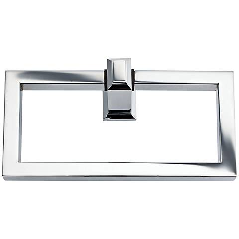 "Sutton Place 6 3/4""W Polished Chrome Towel Ring"