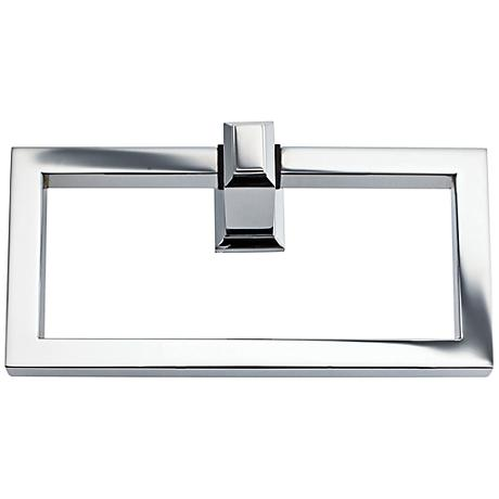 """Sutton Place 6 3/4""""W Polished Chrome Towel Ring"""