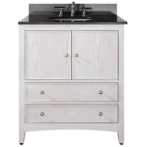 "Avanity Westwood 30"" Wide White Washed Vanity Combo"