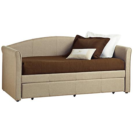 Hillsdale Siesta Tweed Fabric Daybed with Trundle